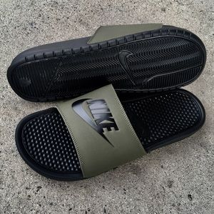 692ffcd273 Nike Shoes | Benassi Slides Just Do It Jdi Armys Olives | Poshmark